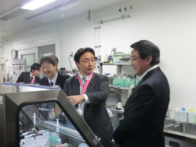 twins 交通アクセスサイトマップ 後藤田正純内閣府副大臣が来校されました